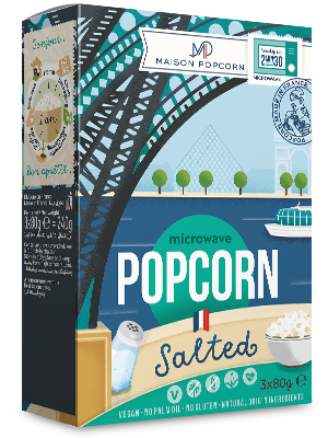 """Maison Popcorn"" salted French microwave popcorn"